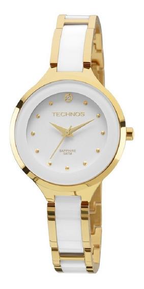 Relógio Technos Dourado Feminino Cerâmica 2035lyw/4b