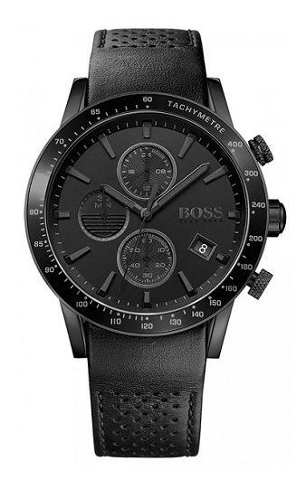 Relógio Hugo Boss Masculino Couro Preto - Modelo: 1513456