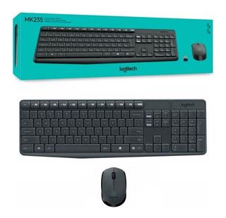 Combo Teclado Mouse Inalambrico Kit Mk235 Logitech Usb Pc Es