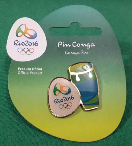 Imagem 1 de 1 de Pin Olímpico - Rio 2016 - Col Samba - Conga - Memorabilia