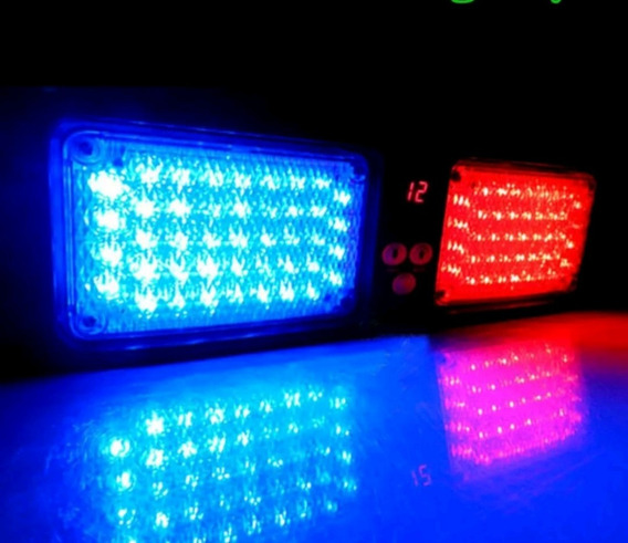 Giroflex Para Viatura Policial, Vermelho E Azul, Padrão Pc