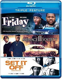 Friday/ Manece Ii Society/ Set It Off-blu Ray Triple Feature