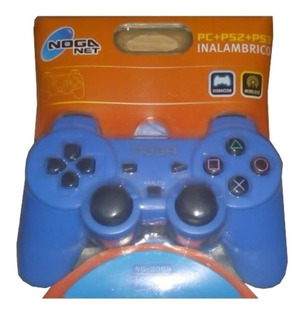 Joystick Pc Ps2 Ps3 Inalambrico Wifi Vibracion Usb - Azul