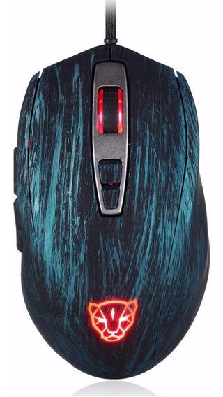 Motospeed V60 Mouse Vangogh Azul Pronta Entrega Com Nf