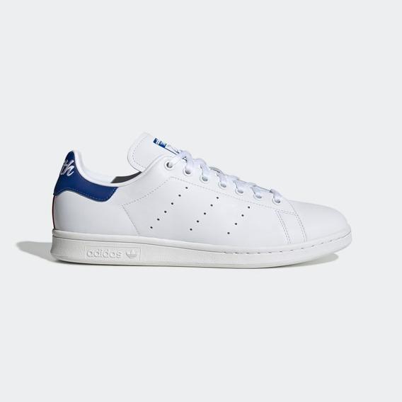 Zapatillas adidas Stan Smith Blanca Con Azul