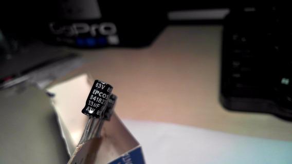 Capacitor Epcos 63v 85º B41827 33uf (m) - Original