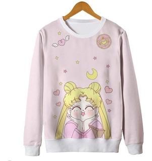 Blusa Moletom Barato Unissex Sailormoon Anime Otaku Sailor