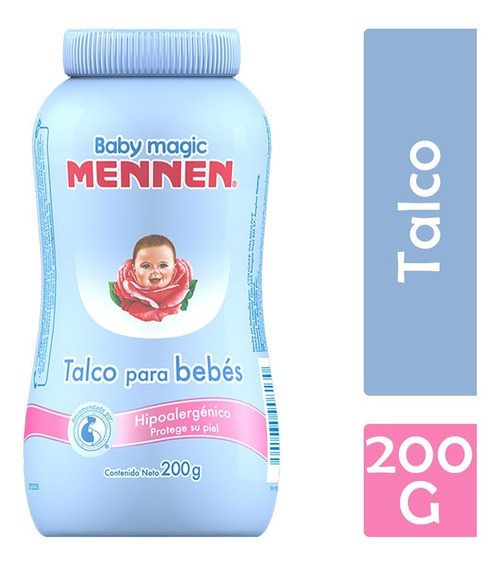 Mennen Baby Magic Talco, 200 G, Azul