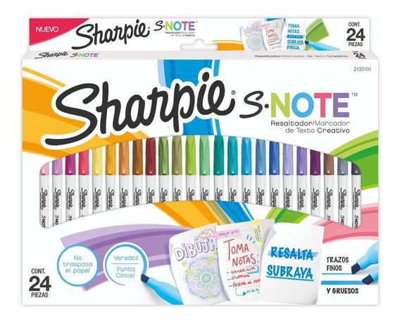 Marcadores Sharpie X24 Snote Chisel Resaltador Subraya