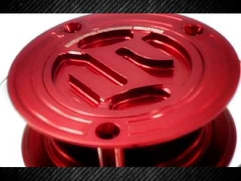 Bocal Tanque Sportivo Suzuki Prata/dourado/vermelho Novo