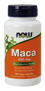 Maca Peruana 500mg 100 Cap - Now Foods - Envio 24h