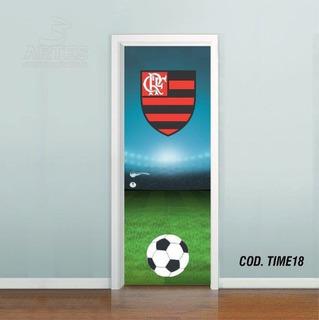 Adesivo De Porta Futebol Flamengo 3 Artes (cod.time18)