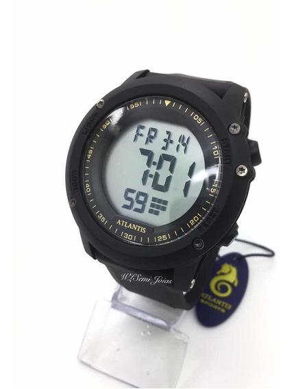 Relógio Atlantis Digital Sport Prova D´água G7484 Vermelho