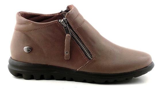 Botineta Cuero Mujer Cavatini Bota Zapato Confort Mcbo24630
