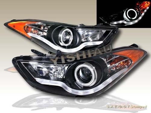 Faros Angel Eyes-led Hyundai Elantra 11-14
