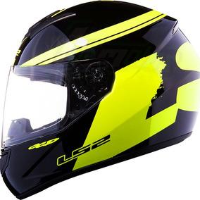 Casco Ls2 352 Hivis Negro Amarillo Fluo Integral - Fas Motos