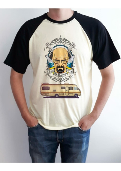 Camiseta Raglan Serie Breaking Bad Masculino Ou Feminino