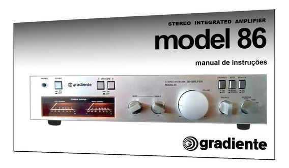 Manual Do Amplificador Gradiente Model 86 (cópia Colorida)
