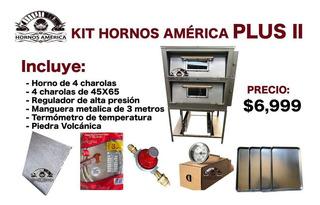 Horno De 4 Charolas Con Mirilla Kit Completo
