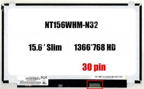 Tela 15.6 Slim 30 Pinos Lp156whu Nt156whm-n32 V8.0 B156xtn07