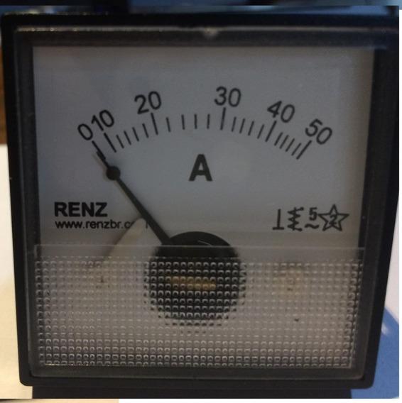 Amperimetro Renz 0~50 Amperes