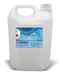 5un- Alcool De Cereais Puro 1000ml