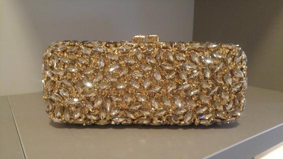 Clutch Pedras Premium Dourada - Bolsa Para Festa