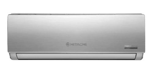 Imagen 1 de 3 de Aire Acondicionado Hitachi Neo Plus Split Inverter Frío/calor 2838 Frigorías Plateado 220v Hsam3300