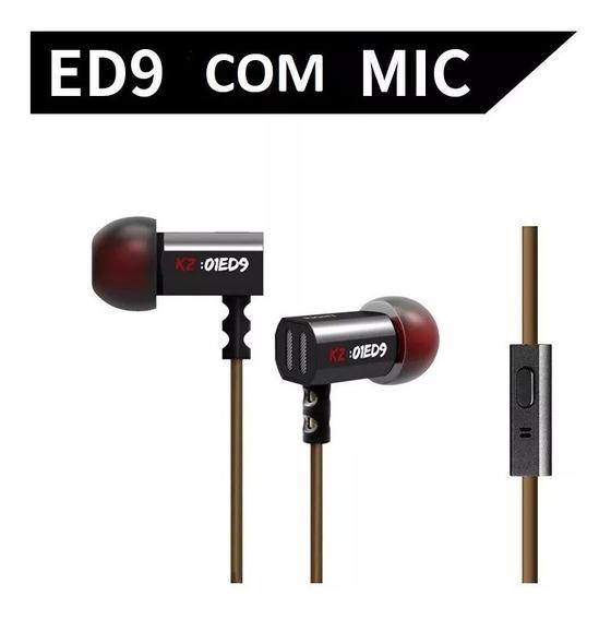 Fone De Ouvido Kz Ed9 Com Microfone.