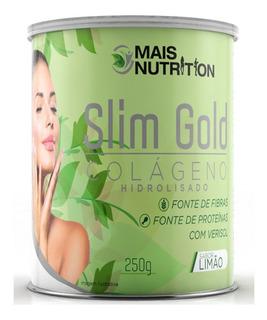 Slim Gold Colageno 250g Verisol Sabor Limao E Melancia