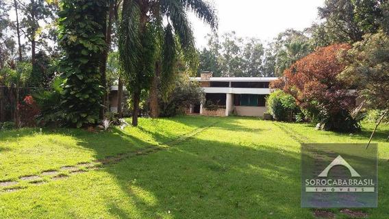 Chácara Residencial À Venda Em Sorocaba-sp, Área Do Terreno 5.018 M², 3 Dormitórios Sendo 1 Suíte, 6 Vagas De Garagem Cobertas - Ch0002