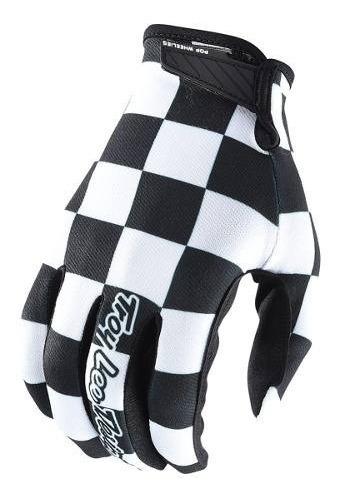 Guantes Motocross Troy Lee Air Checker Negro/blanco