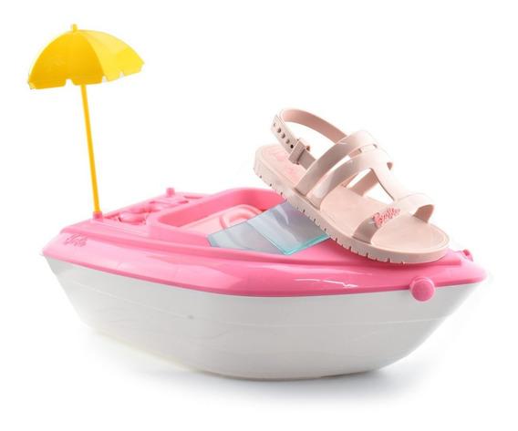 Sandália Grendene + Iate D Barbie 22002 Rosa Claro Envio 24h