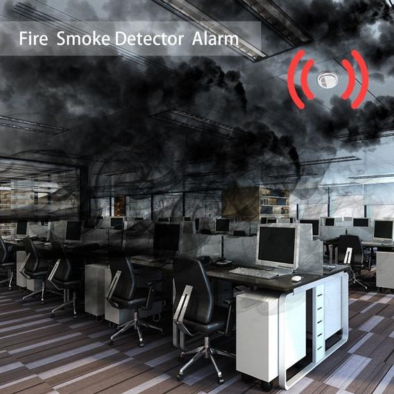 Fogo Fumo Sensor Detetor Alarme Testador Cordless Casa Famí