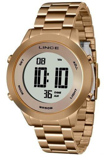 Relógio Lince Feminino Digital Rosé Sdrh037l Bxrx