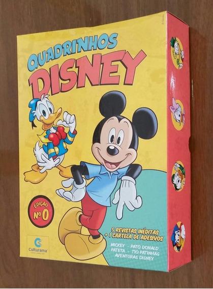 Oferta Box 05 Gibis Disney Edição 0 + Adesivos/ Culturama