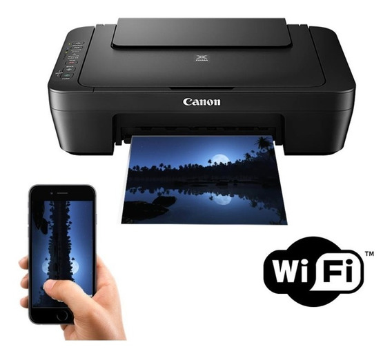 Multifuncional Canon Colorida Mg3010 -wifi C/cartuchos Extra