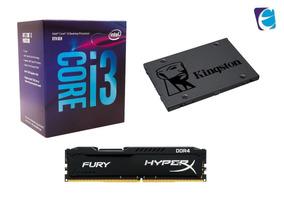 Kit Intel Core I3 8100 Hyper X 8gb Fury Kingston Ssd120 I