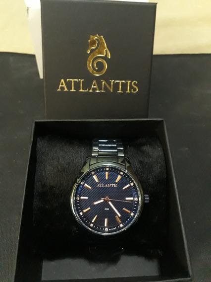 Relogio Feminino Atlantis C710g Azul Fundo Rose