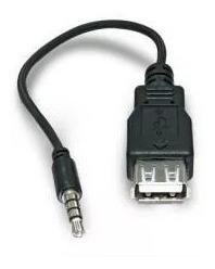 Cabo Adaptador Plug P2 X Usb Femea P/ Carro E Caixa De Som