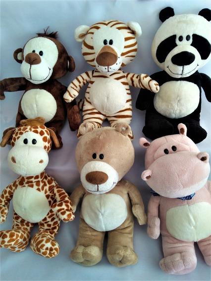 6bonecos Galera Animal Baby Macaco Girafa, Hipo Urso E Panda