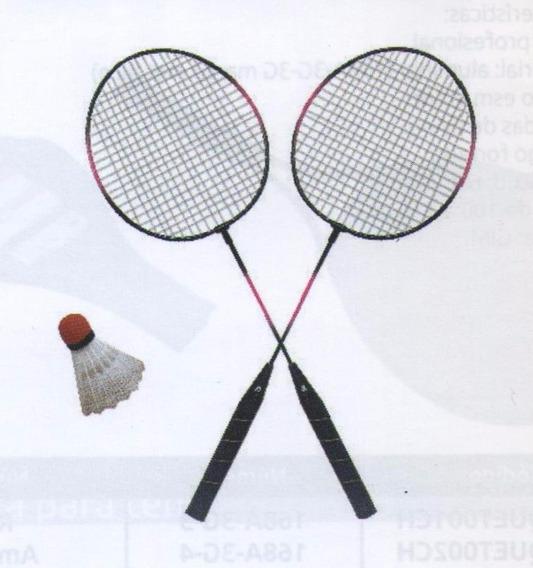 Juego Raquetas Badminton Par Y Gallito