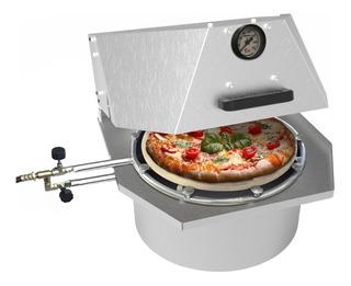 Forno De Pizza Paulistano 35cm Redondo Tipo Italiano A Gás