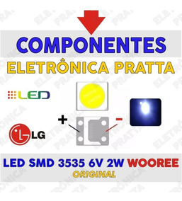 Led Smd Wooree 3535 (6v 2w) Tv Backlight Original / 200pçs