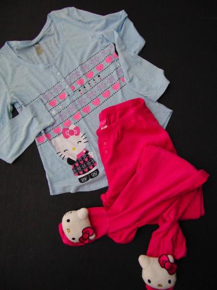 Hello Kitty Set Pijama Grande Algodon