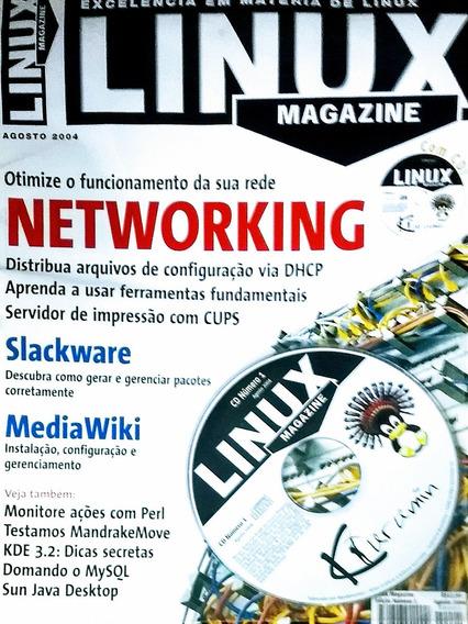 Revista Linux Magazine Com Cd _exc. Em Matéria De Linux