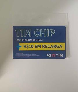 Chip Tim + 10 De Recarga Ddd Livre *frete R$12,00*