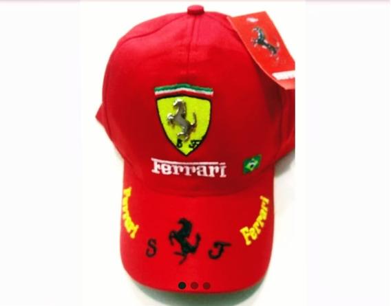 Bone Ferrari Kit 2 Pcs Preto E Vermelho