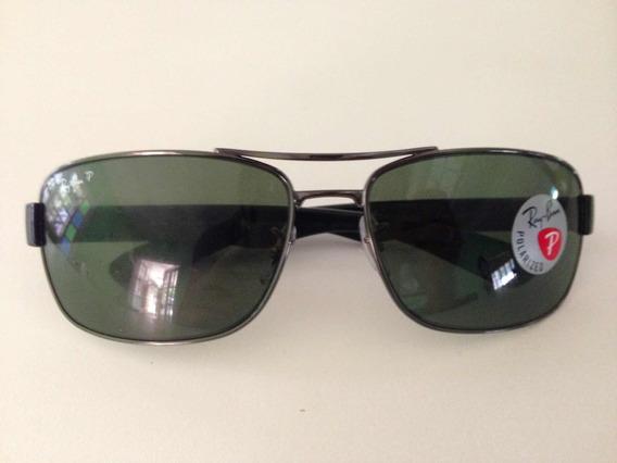 Ray Ban Rb3522 Preto Polarizado Óculos Solar Original