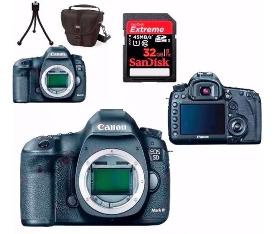 Câmera Canon Eos 5d Mark Iii Corpo + Bolsa + Tripé